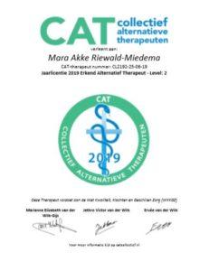 Licentie CAT erkend alternatief therapeut