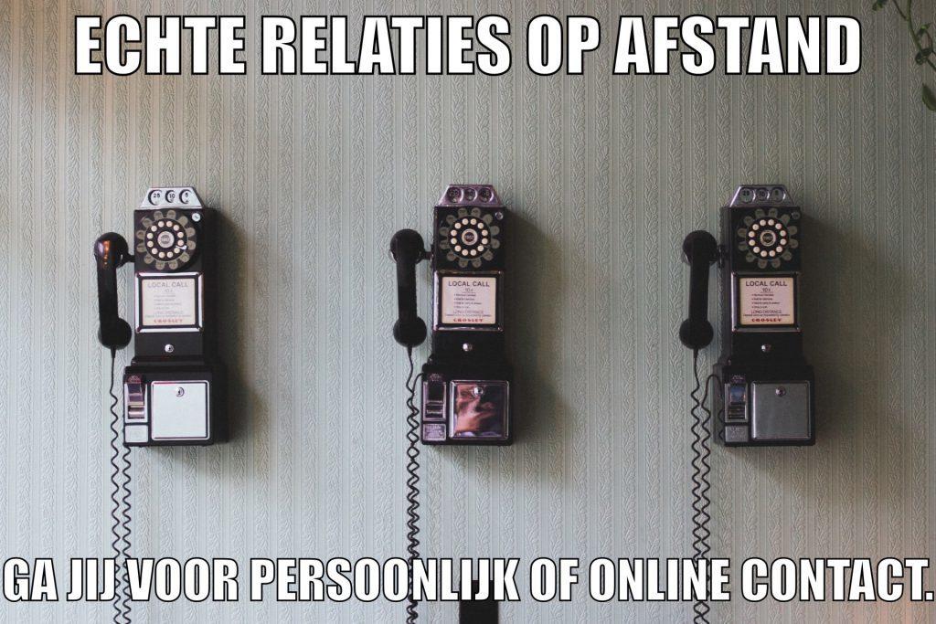 echte relaties op afstand. Heb jij liever persoonlijk of online contact?